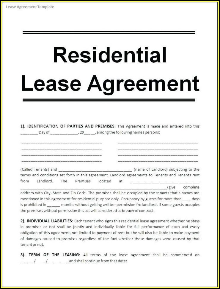 Free Printable Commercial Lease Agreement Forms