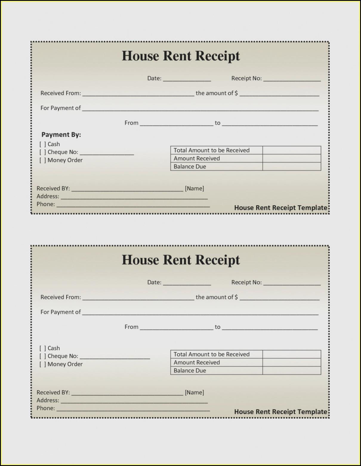 Free Rental Receipt Form