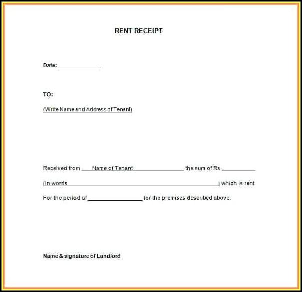 Free Rental Receipt Format
