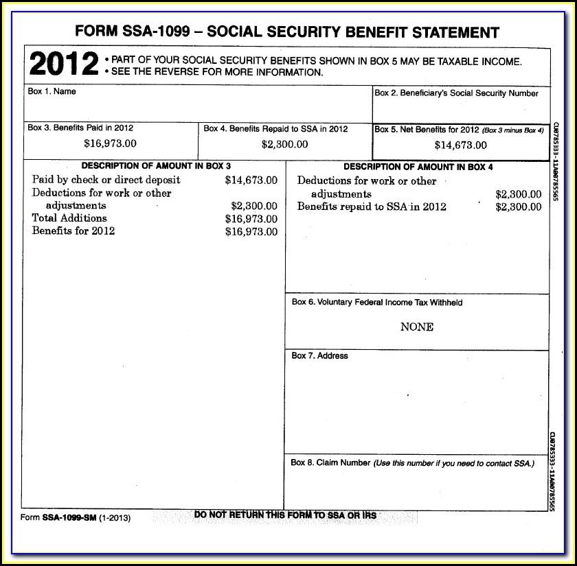 Get Social Security 1099 Form