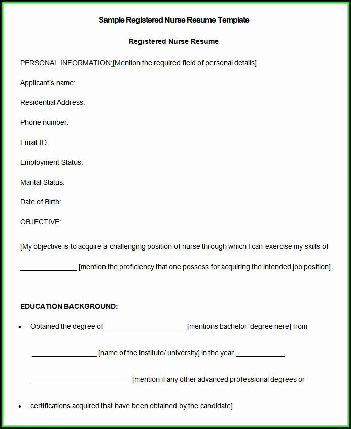 Nurses Resume Format Download