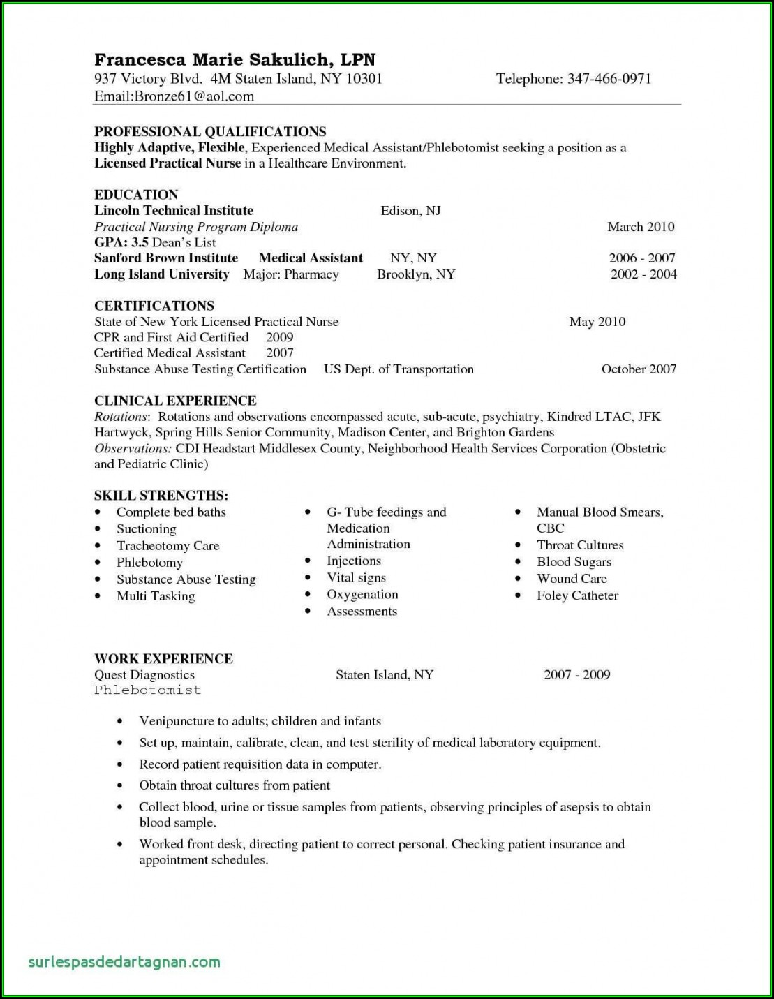 Nursing Resumes New Graduates Templates