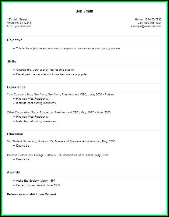 Resume Creating Websites