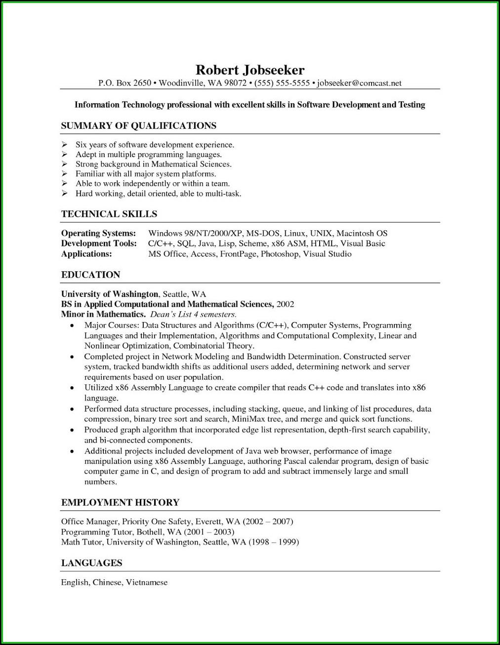 Resume For Entry Level Medical Billing And Coding