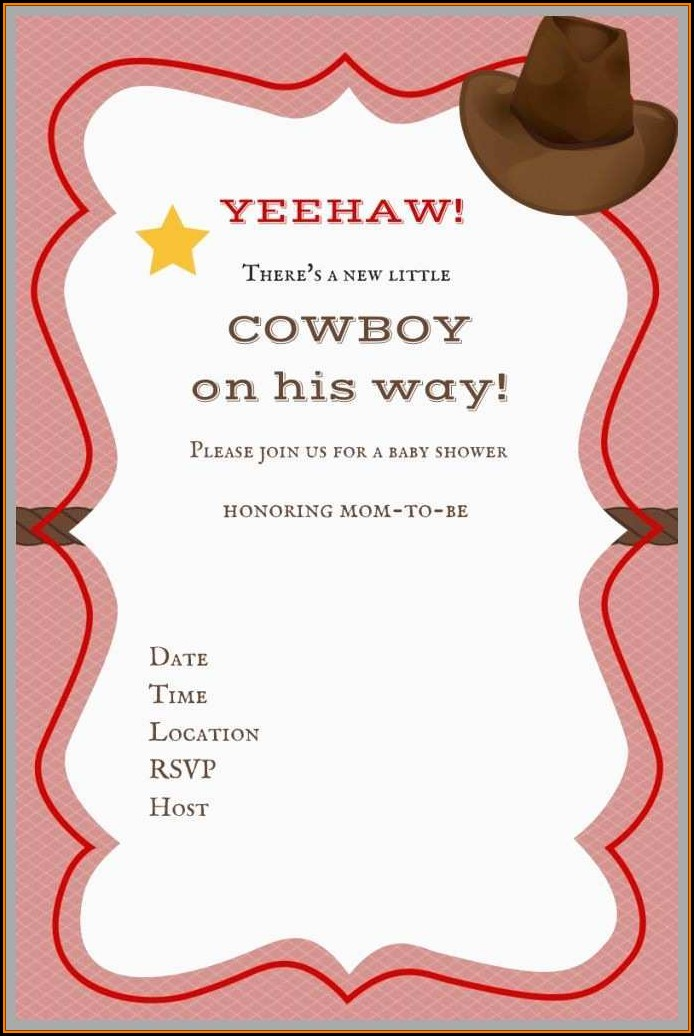 Free Western Baby Shower Invitation Templates