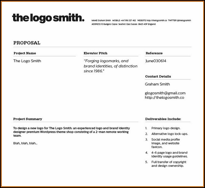Freelance Graphic Design Proposal Template