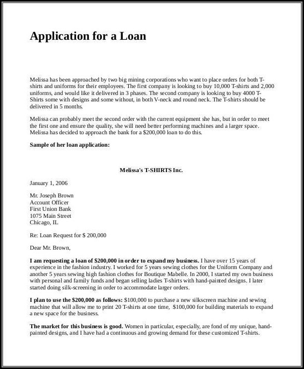Loan Proposal Example