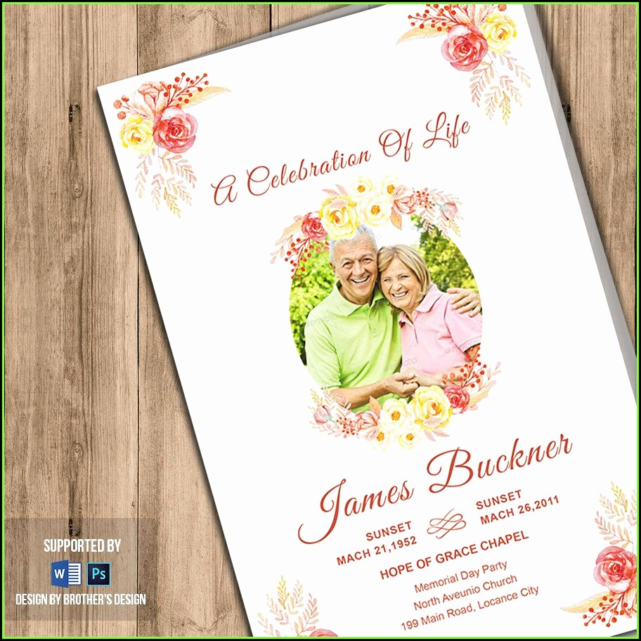 Celebration Of Life Template Download