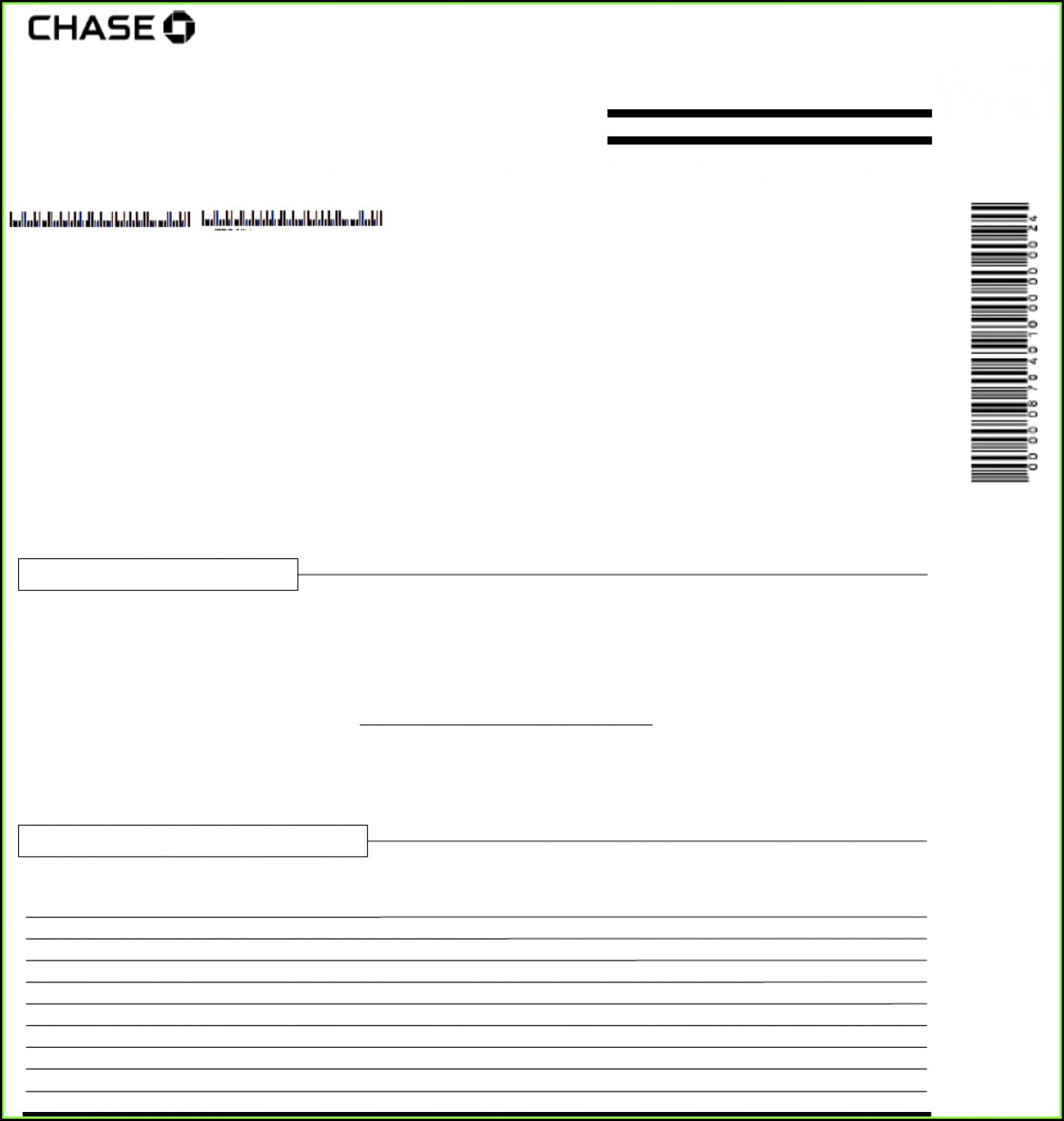 Chase Bank Statement Template Excel