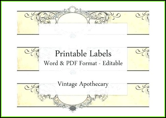 Cigar Label Template Word