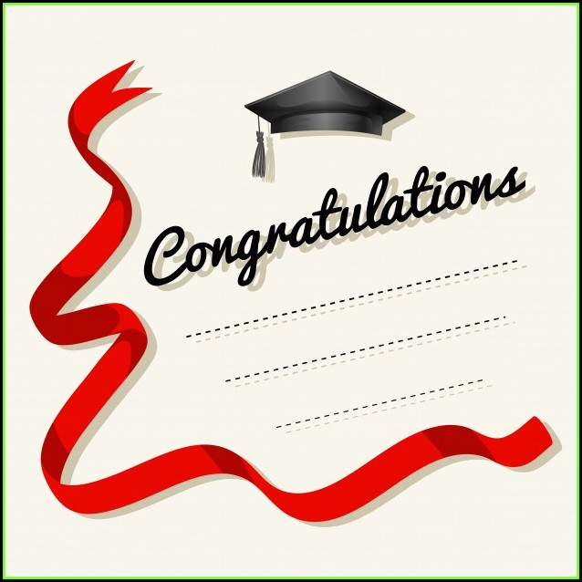 Congratulations Card Template Word 2007