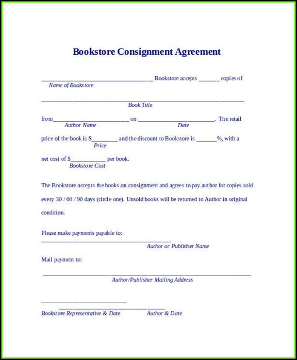 Consignment Agreement Template Pdf