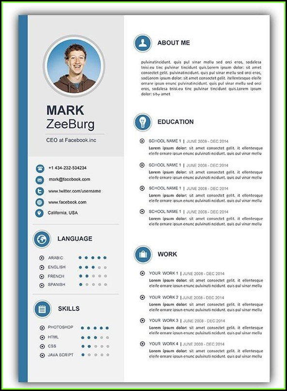Cv Template Free Word Document