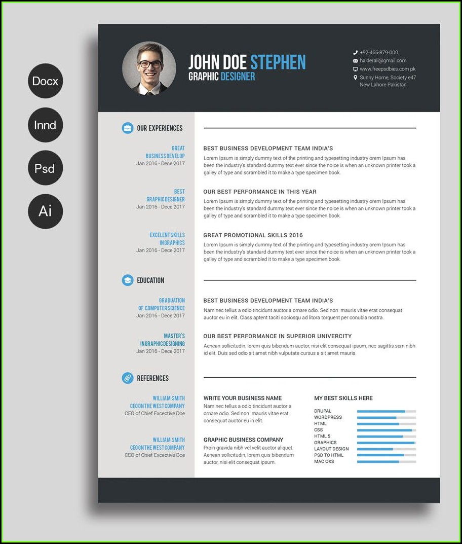 Cv Template Free Word