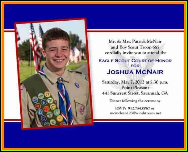 Eagle Scout Newspaper Announcement Template