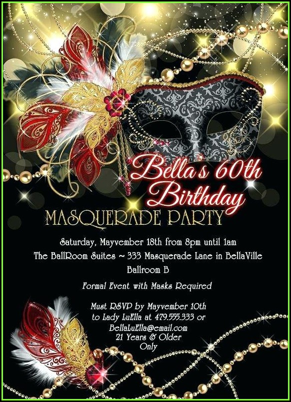 Elegant Masquerade Invitation Template