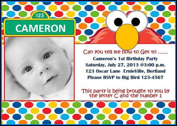 Elmo Birthday Party Invitations Templates