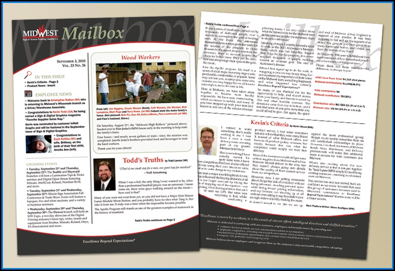 Employee Newsletter Layout