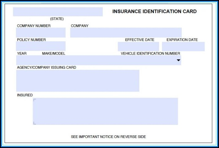 Fake Health Insurance Card Template