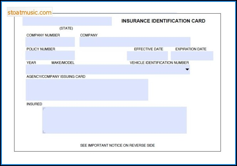 Fake Insurance Card Template Free