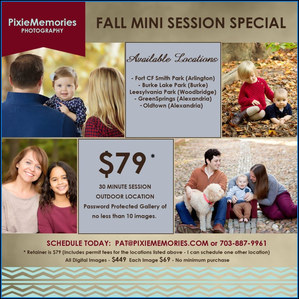 Fall Mini Session Templates Free