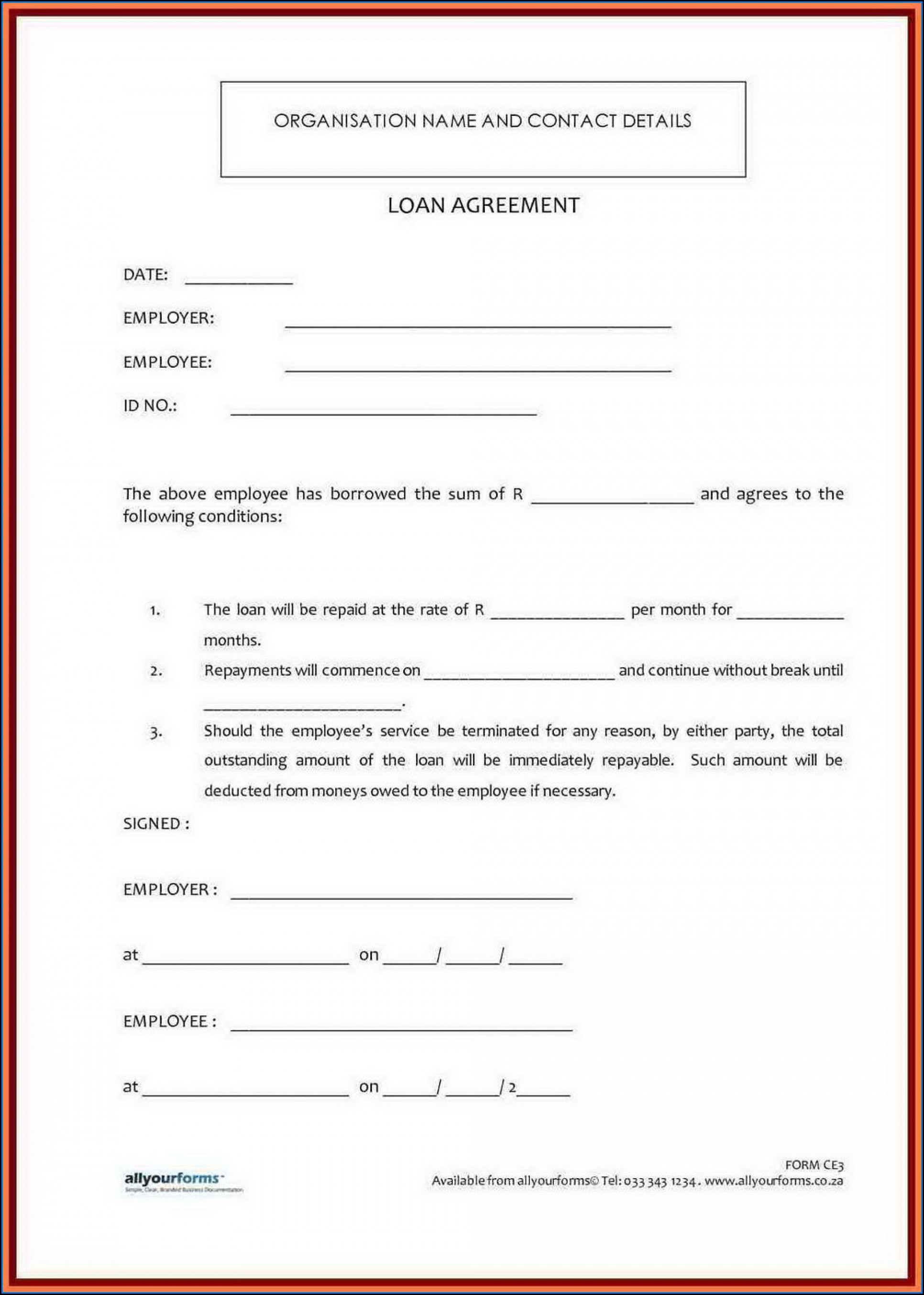 Family Loan Agreement Template Australia