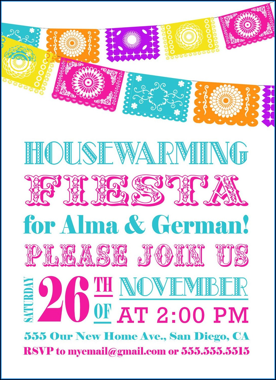 Fiesta Invitation Template