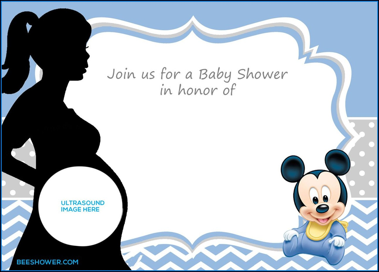 Free Baby Mickey Mouse Invitation Template
