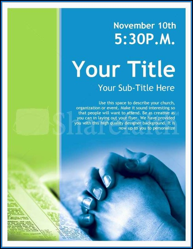 Free Church Flyer Templates Microsoft Word