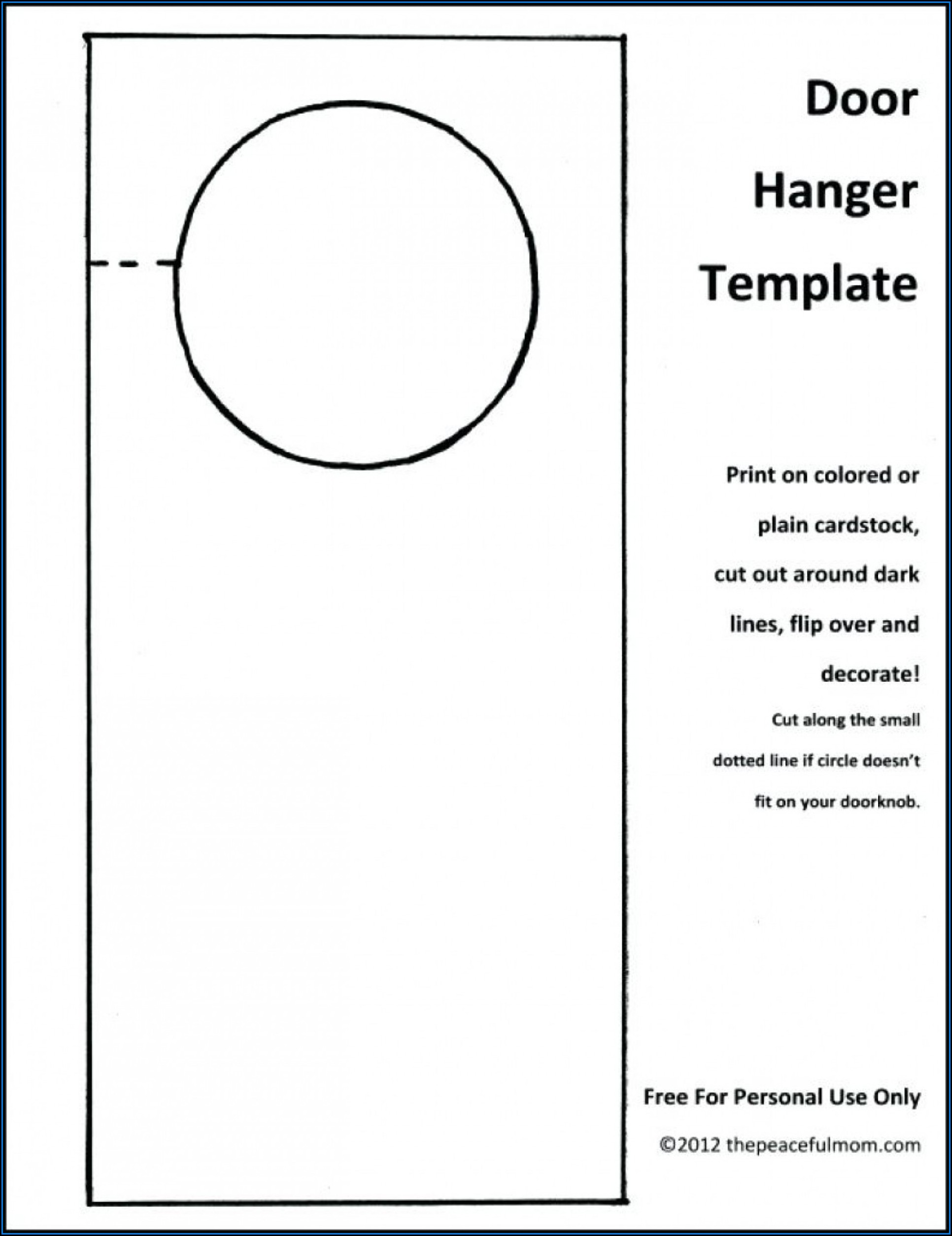 Free Door Hanger Template Publisher