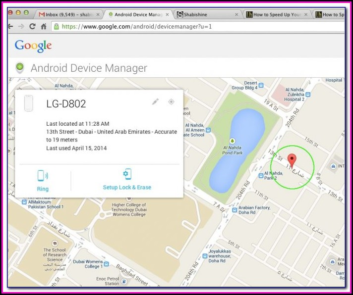 Google Maps Cell Tracking