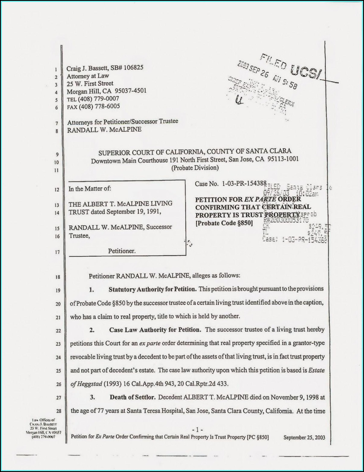 Grant Deed Form California Santa Clara County