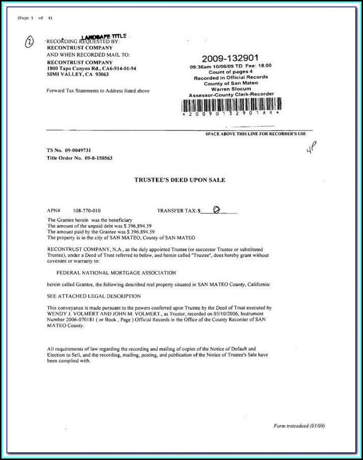 Grant Deed Form California Word Document