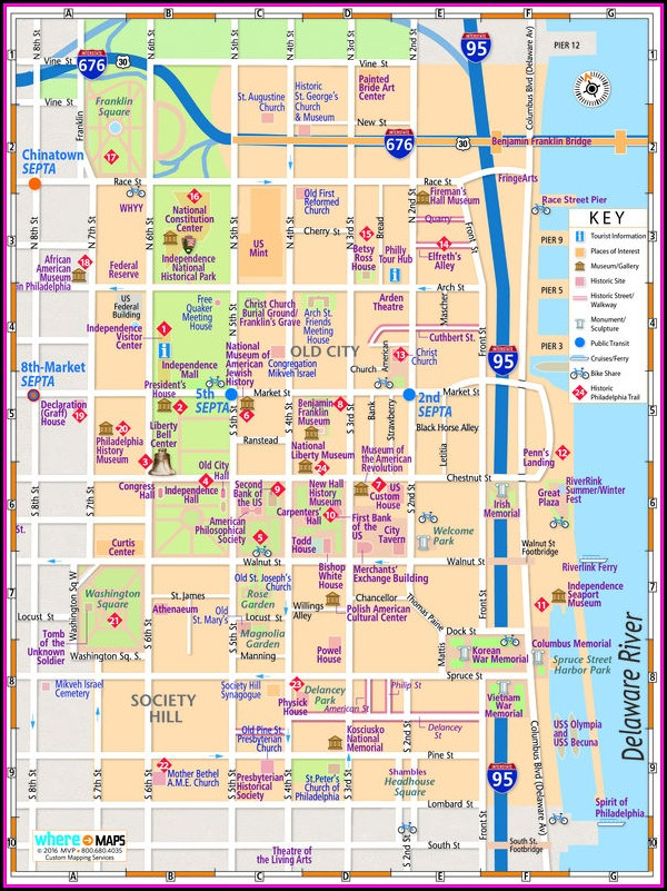 Historic Map Of Philadelphia