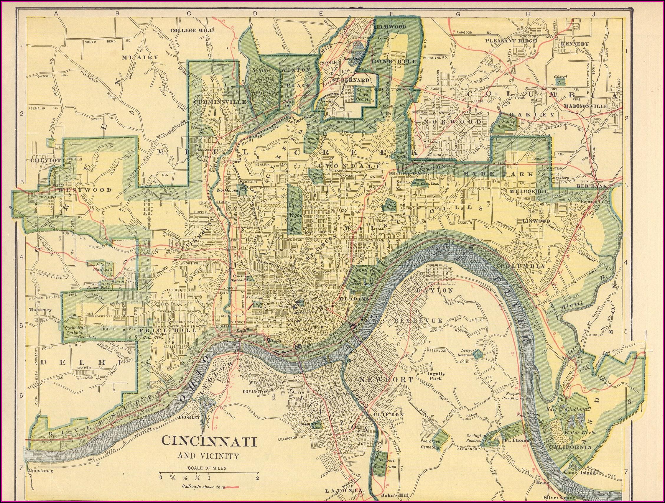 Historic Maps Of Cincinnati Ohio