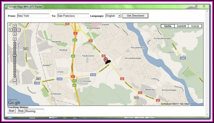 How To Gps A Cell Phone With Google Maps