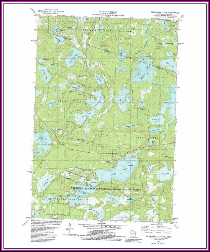 Indian Lake Michigan Topographic Map
