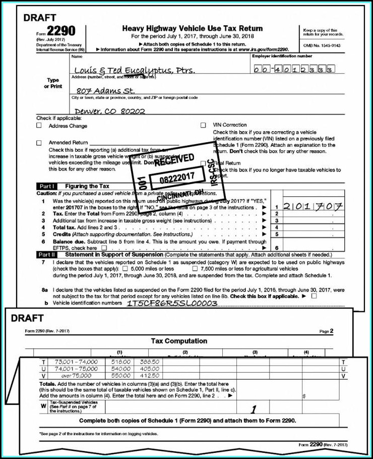 Irs Form 2290 Due Date