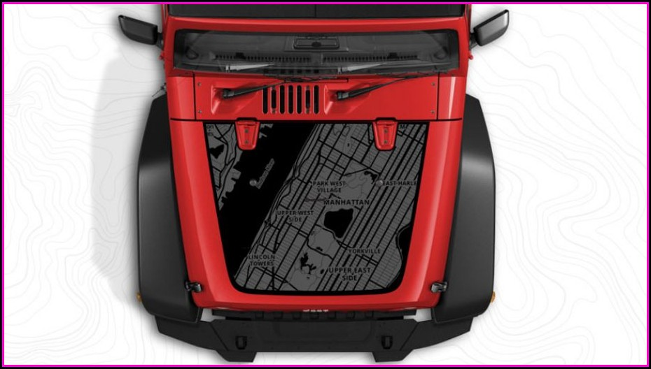 Jeep Hood Map Decals