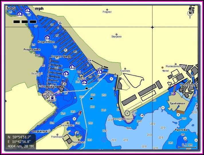 Jeppesen C Map Max N Wide Charts