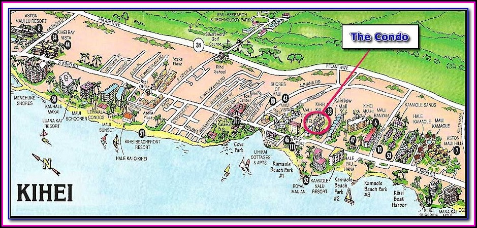 Kihei Hotels Map