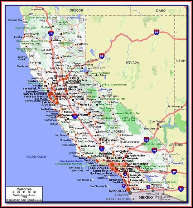 Map Of California Freeways