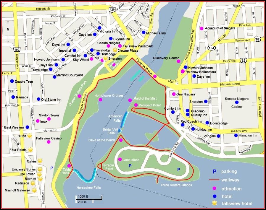 Map Of Canada Niagara Falls Hotels