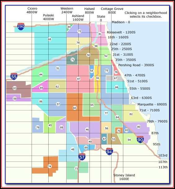 Map Of Chicago Neighborhoods Pdf