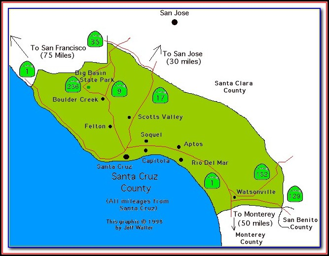 Map Of Cities In Santa Clara County California
