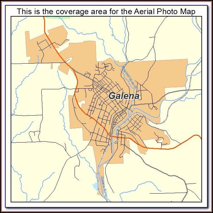 Map Of Downtown Galena Illinois