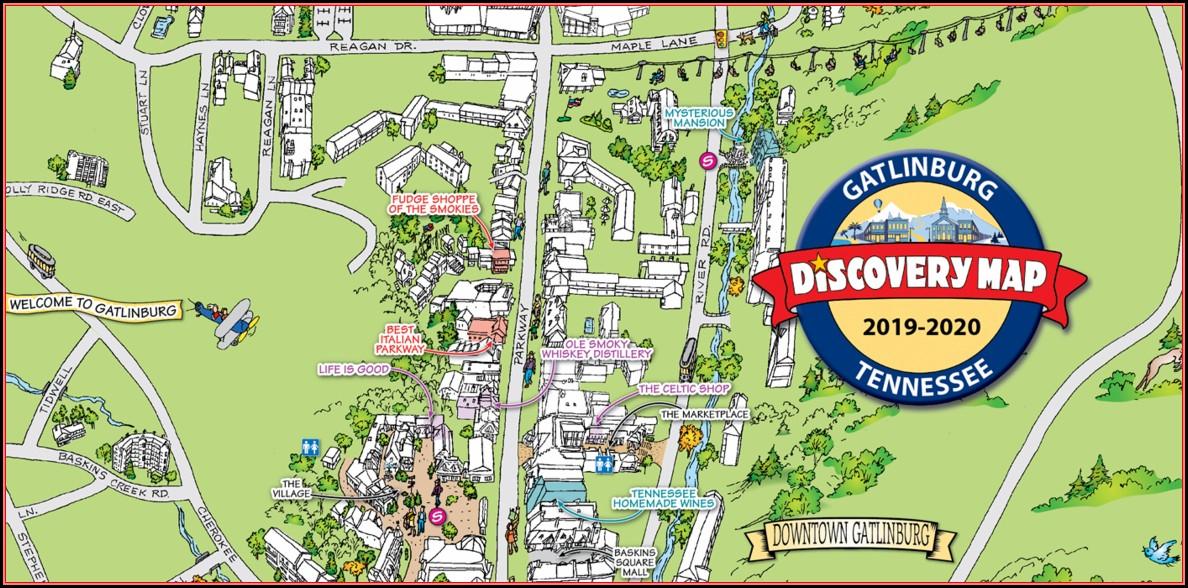 Map Of Gatlinburg Hotels On Parkway