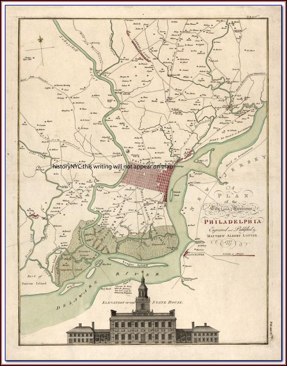 Map Of Historic Philadelphia Pa
