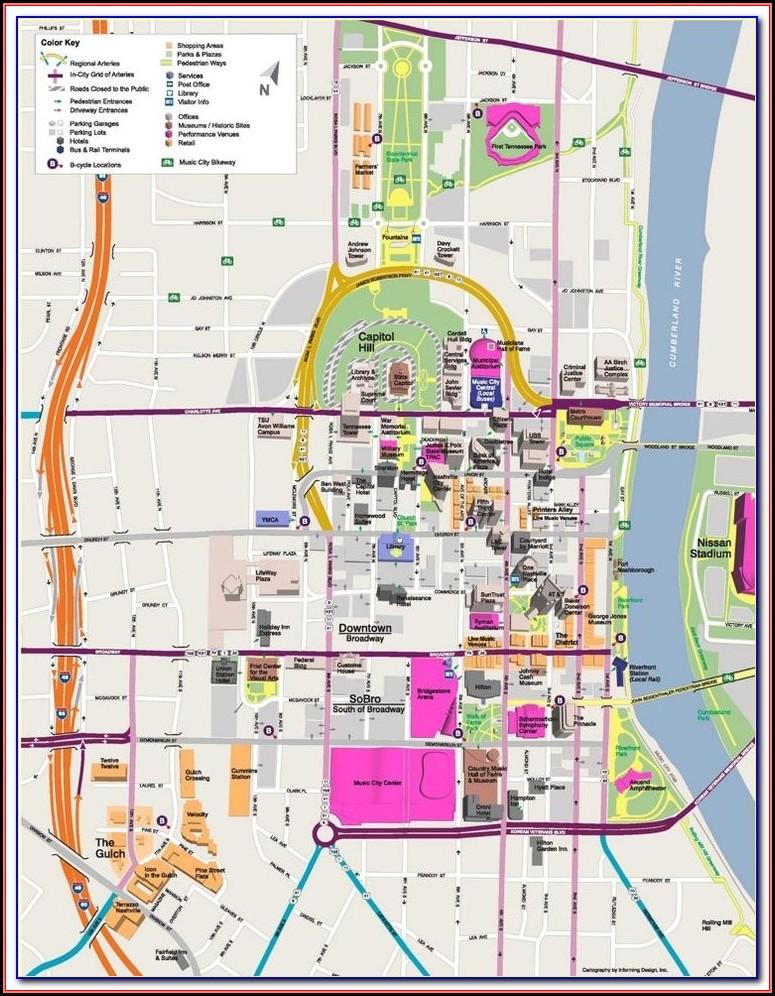 Map Of Hotels Near Downtown Nashville Tn