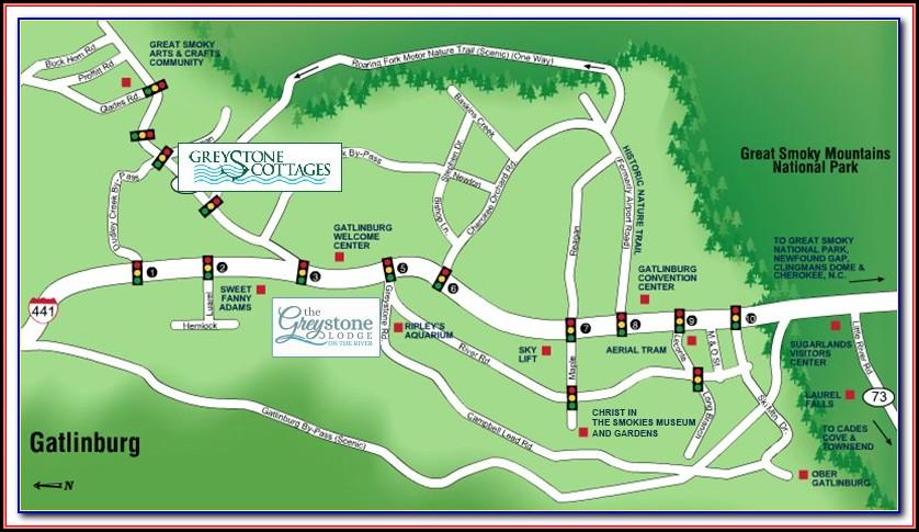 Map Of Hotels Near Gatlinburg Convention Center
